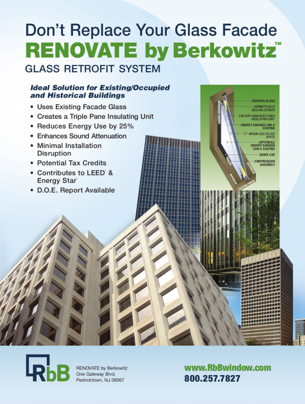 Don't replace your glass facade, get Renovate by Berkowitz